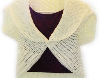 Circular Shrug - PDF Crochet Pattern - Instant Download