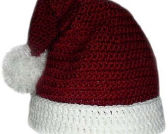 Santa Claus Hat (5 sizes) - PDF Crochet Pattern - Instant Download