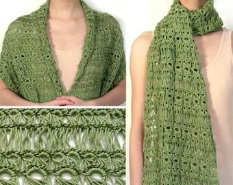 Broomstick Lace Wrap - PDF Crochet Pattern - Instant Download