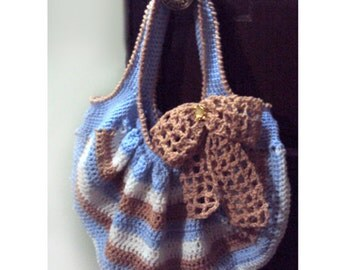 Bow Peep Tote - PDF Crochet Pattern - Instant Download