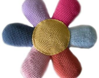Flower Power Pillow - PDF Crochet Pattern - Instant Download