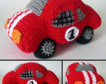 Rambunctious Race Car - PDF Crochet Pattern - Instant Download