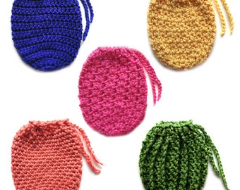 5 Drawstring Bags - PDF Crochet Pattern - Instant Download