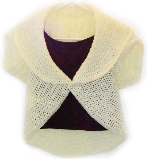 Free Crochet Circular Bolero Patterns : Circular Shrug PDF Crochet Pattern Instant Download