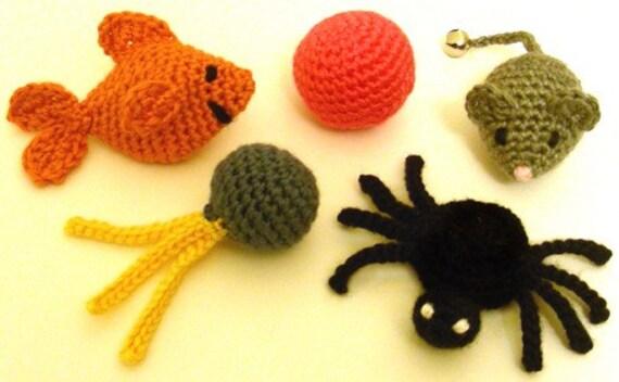 5 Quick Cat Toys Pdf Crochet Pattern By Crochetspotpatterns