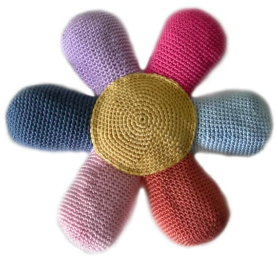 Flower Power Pillow PDF Crochet Pattern Instant Download