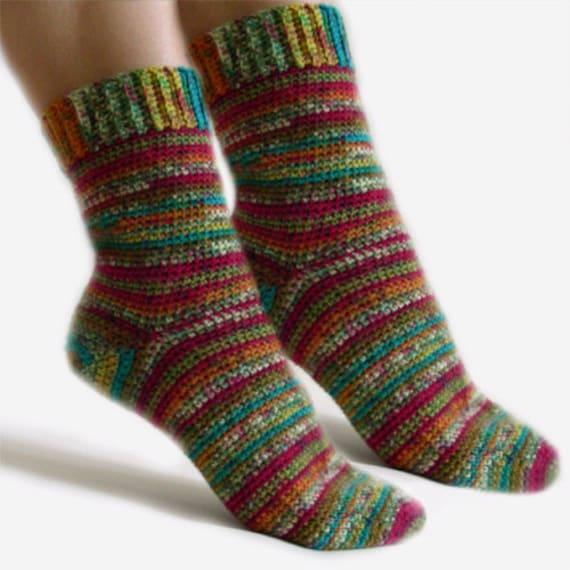 Easy Adjustable Socks - PDF Crochet Pattern - Instant Download