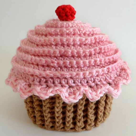 Cupcake Hat (5 sizes) - PDF Crochet Pattern - Instant Download