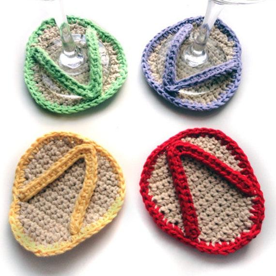 Flip Flop Coasters - PDF Crochet Pattern - Instant Download