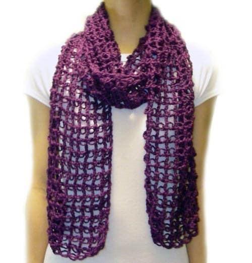 Easy Lacy Crochet Shawl Pattern : Absolutely Easy Lace Scarf PDF Crochet Pattern Instant