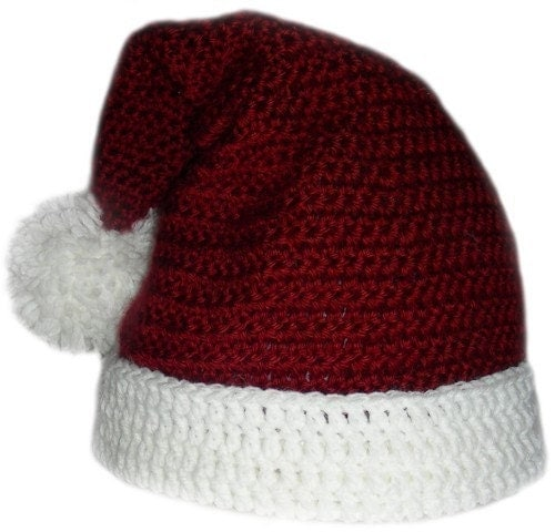 Santa Claus Hat 5 sizes PDF Crochet Pattern Instant