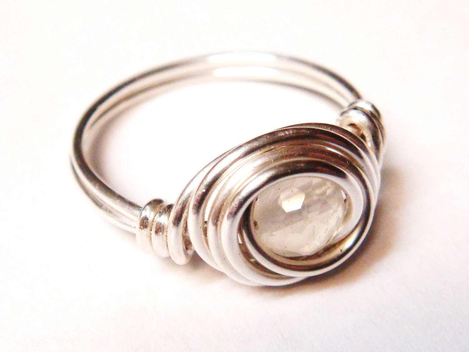 moonstone ring moonstone jewelry silver by spiralsandspice