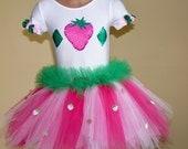 Strawberry Shortcake Toddlers Costume Size 2T - Girls 5
