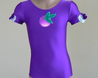 Strawberry Shortcake Plum Pudding Toddlers Leotard. Performance Leotard. Gymnastic Dance Leotard. Dancewear. SIZES 2T - Girls 12