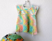 Vintage Crochet Baby Toddler Dress