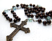 Wooden and Czech Glass Rosary