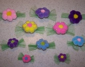 12 Daisy Grooming Bows in Assorted Sizes and Colors