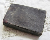 Antique Leather Bound Bible Circa Mid 1800's - Pocket Size - Mini - Small - Tiny - New Testament