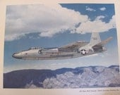Vintage Air Force B45 TORNADO - North American Aviation Poster - 12 x 15 Circa 1950s