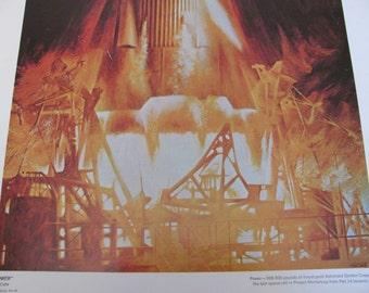 NASA Space Art Poster - Circa 1969 - POWER - By Paul Calle - 20 x 16
