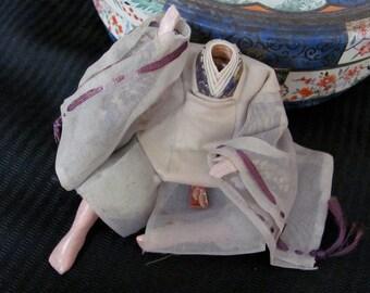 Antique Collectible Japanese Gofun Takeda Ningyo Doll