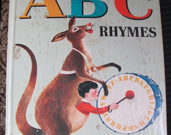 Book Little Golden Book ABC RHYMES dated 1964 A EDITION