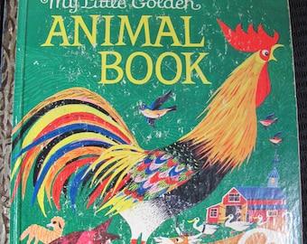 Little Golden Book My Little Golden Animal Book dated 1962 A Edition