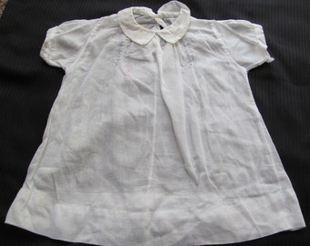 Antique White Baby Dress Gown