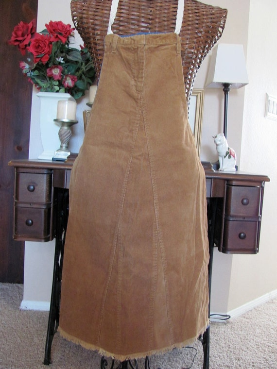 Stylish Ladies Reversible Denim Full Apron Made From Recycled Clothing