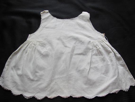 Antique White Baby Dress Under Clothes Cotton Slip