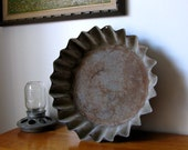 On RESERVE -Vintage Industrial Farm Pan only