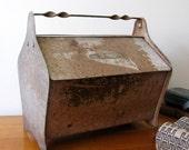 Vintage Old Metal Quilt-Sewing Tote