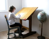 Vintage Drafting Table Children's Artist Table circa 1950s-60s