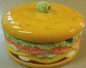 Giant Ceramic Hamburger Condiment Server