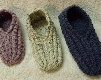 Easy to Knit Slippers Tutorial - Knitting Pattern Kindle, iPad, Nook, Sony