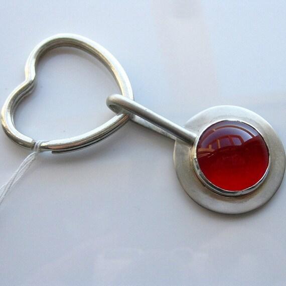 Super Sale - Silver Key Ring - hand made by Inbar Bareket
