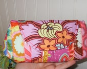 Amy Butler Soul Blossom Candy Stripe Chubby Clutchy Clutch