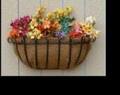 36inch Wrought Iron Window Box or Hayrack Planter Basket