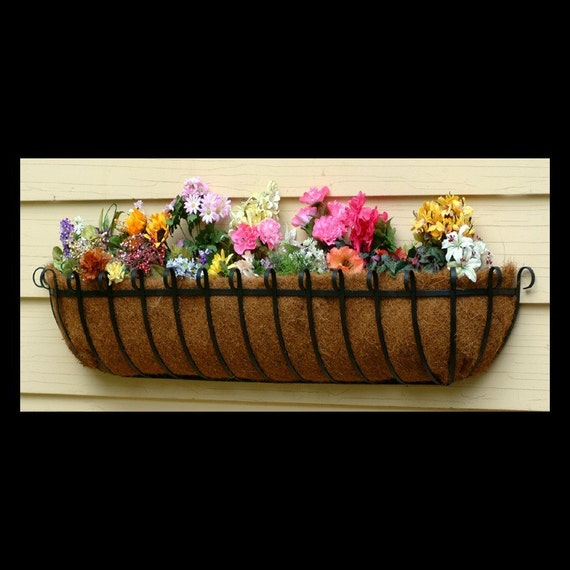 48inch Wrought Iron Window Box Or Hayrack Planter Basket