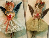 Digital Cat Angel Fairy Doll Pattern For Clothespin Dolls - INSTANT Download With Matching Gift Tags CS6DP