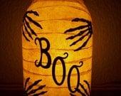 Grungy Primitive Halloween 'Boo' Lantern