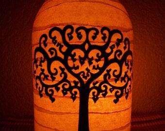 Grungy Primitive Tree of Love Lantern