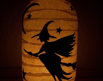 Primitive Halloween Witch Lantern