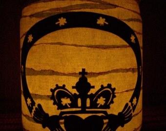 Primitive Claddagh Lantern Light Luminary Centerpiece Candle Holder Irish Celtic Ireland Gift