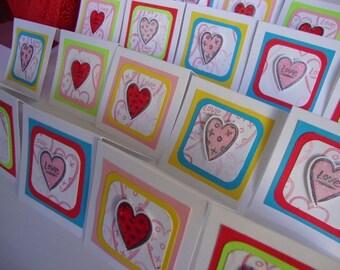 Valentine bright mini cards