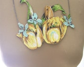 RESERVED FOR PATTI, Say you miss me, necklace fun flirty unique flower tulip feminine playful