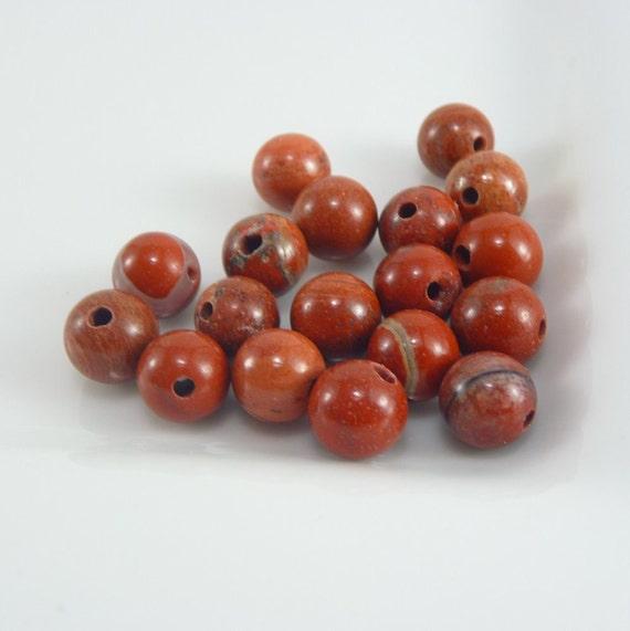 Red Jasper - 6mm Rounds - 66 Loose Beads - Destash