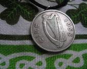 Authentic 1955 Irish Coin Birth Year Necklace- Floirin Ireland Jewelry