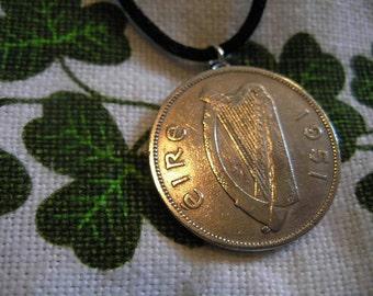 1951 Irish Coin Birth Year Necklace/1951 Floirin