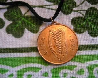 45th BIRTHDAY IRISH Coin Birth Year Necklace-1971 2pence